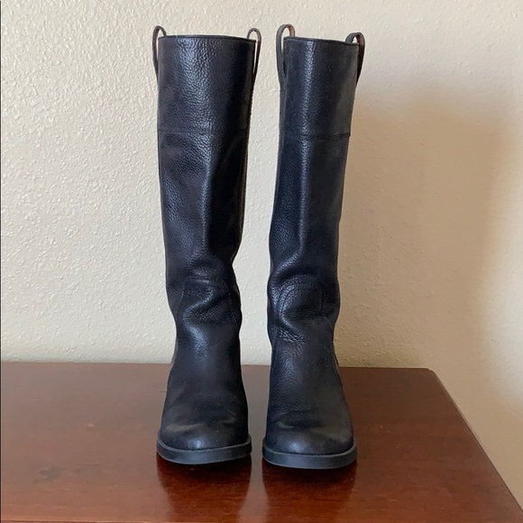 Lucky Brand Shoes - Black leather riding boots by Lucky